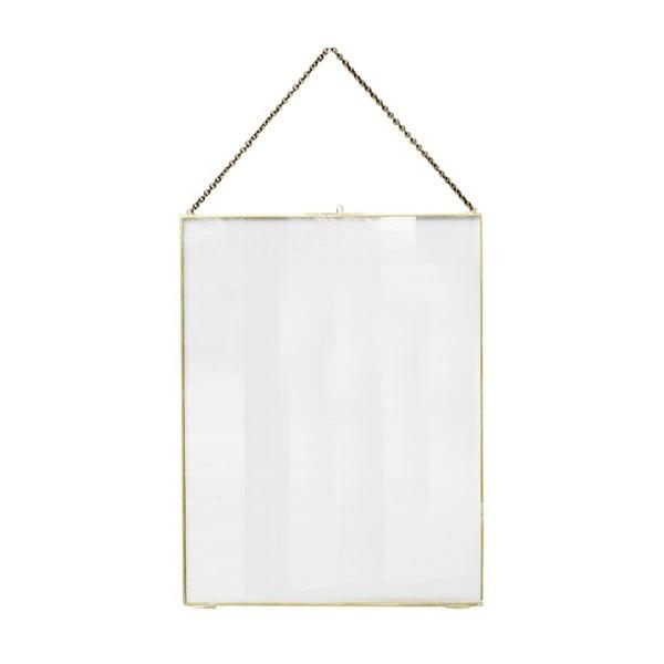 Závěsný rámeček ComingB Glass Brass, 40x52 cm