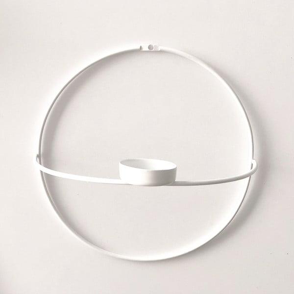 Circle fehér fali gyertyatartó, ø 21 cm