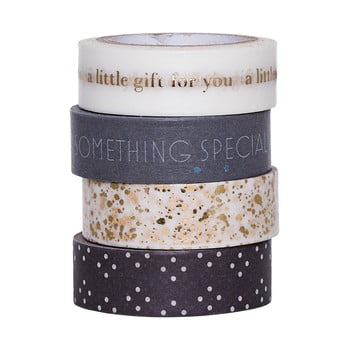 Set 4 benzi adezive decorative Washi Bloomingville Little Gift