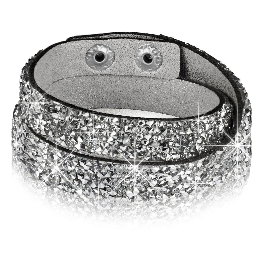 Dámský náramek stříbrné barvy Runaway Crystal, 38 cm