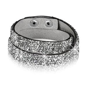 Dámský náramek stříbrné barvy Tassioni Crystal, 42 cm