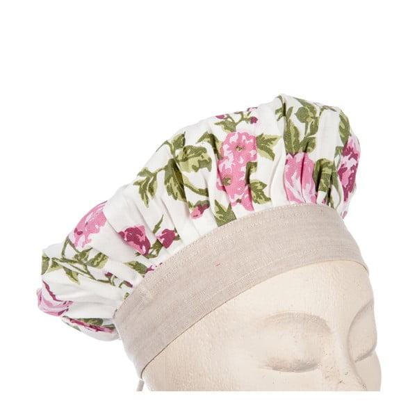 Sada dětské zástěry, čepice a rukavice Roses Pink