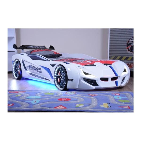 Fastero fehér gyerekágy LED világítással, 90 x 190 cm