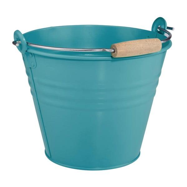 Modrý dekorativní kbelík Butlers Zinc, 8l